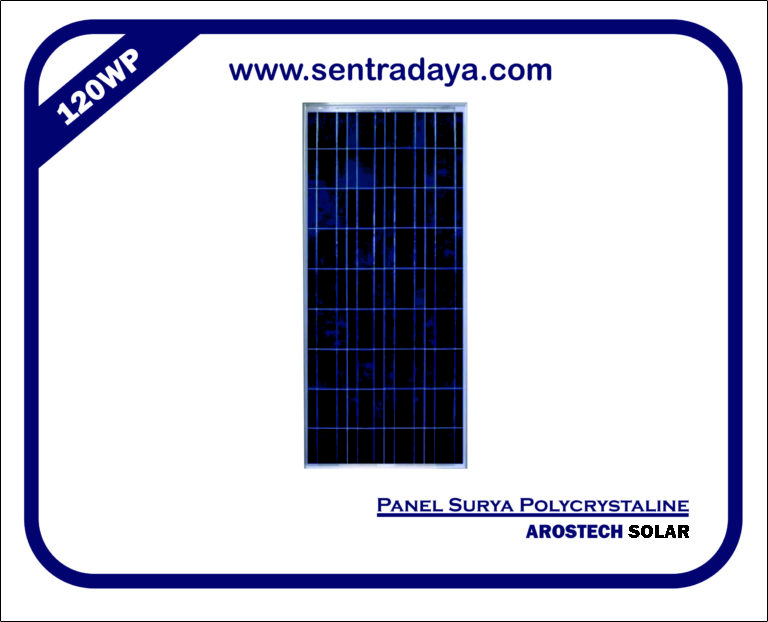 PANEL SURYA POLYCRYSTALIN 120WP | SOLAR PANEL 120WP BERGARANSI